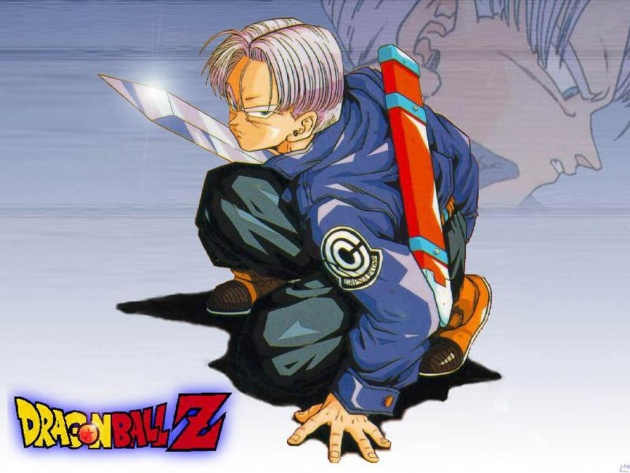 Wallpaper Trunks Fight Pose With Sword Dragon Ball Z