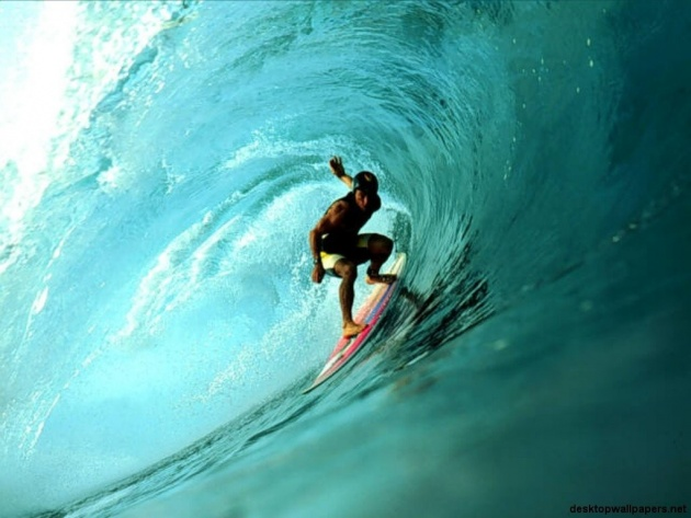 Wallpaper Wave Surfing At Pipeline Hawaii Photo Wallpaper