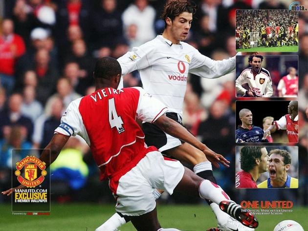 Wallpaper Cristiano Ronaldo and Patrick Vieira
