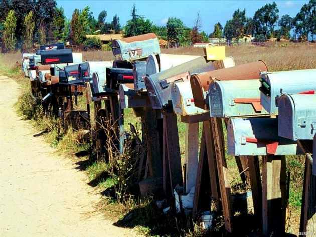 Wallpaper Mailboxes in Ramona, California, USA