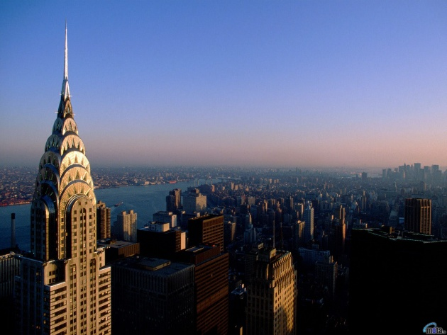 Le papier peint Le chrysler building, Manhattan, New York, états-UNIS