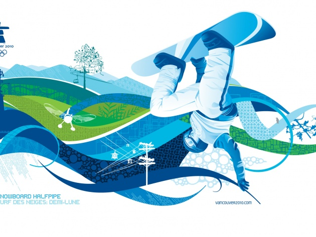 Wallpaper Snowboard Halfpipe - Olympic Games 2010