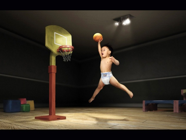 Wallpaper Young basketball player