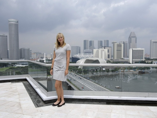 Wallpaper Maria Sharapova in Singapore
