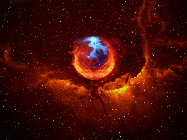 Wallpaper Firefox Nebula