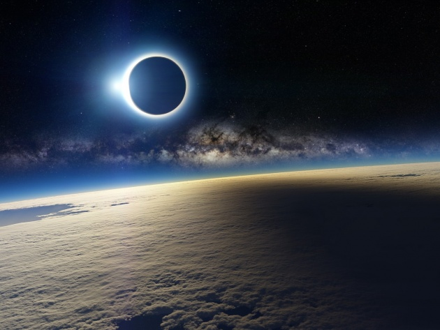 Wallpaper 3D Solar Eclipse
