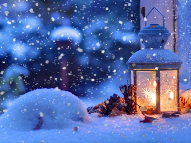Wallpaper Christmas lantern