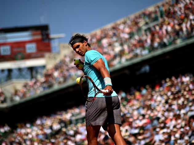 Wallpaper Rafael Nadal on court
