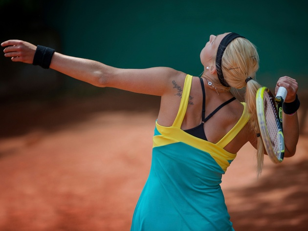 Wallpapers Lena-Marie Hofmann an einem Tennismatch
