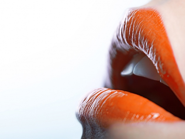Wallpapers Orange Lippen