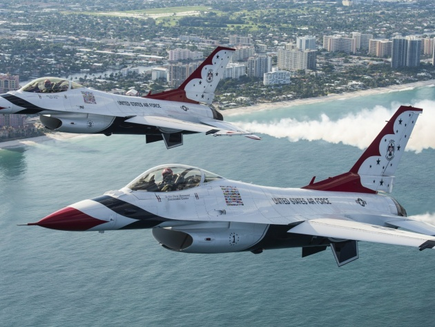 Wallpaper Aerobatic Team Thunderbirds, Thunderbird F-16