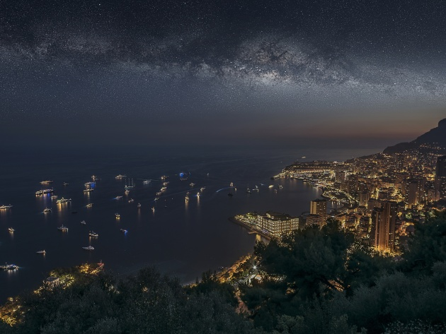Wallpaper Starry sky in Monaco
