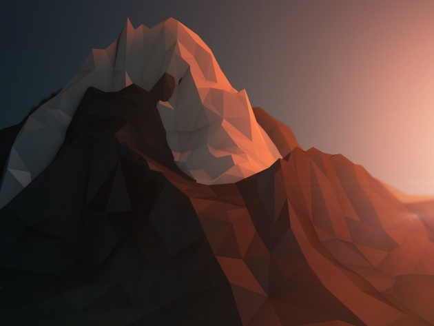 Wallpapers Polygon-Mesh - Berge
