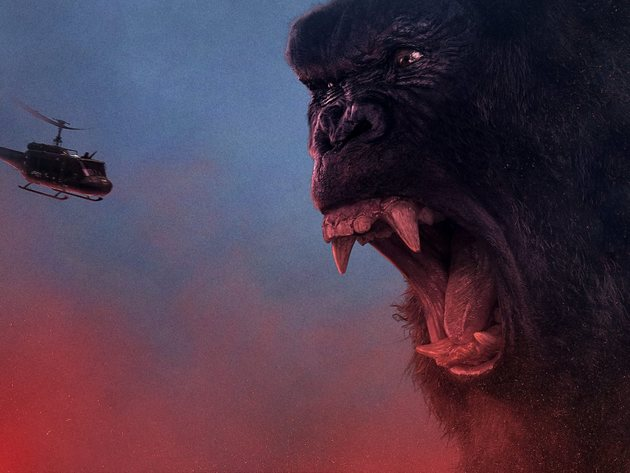 Wallpaper helicopter, king kong, kong: skull island, fangs