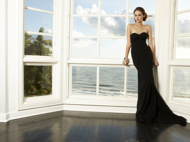 Wallpaper sea, actress, brunette, girl, window, black dress, willa holland