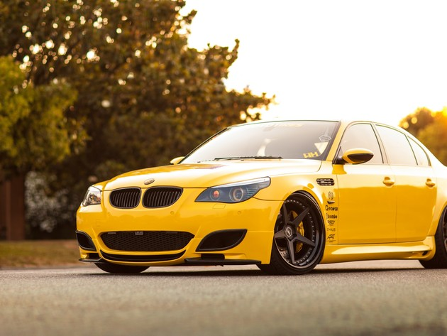 Wallpaper bmw, bmw m5, yellow bmw, bmw m5 e60