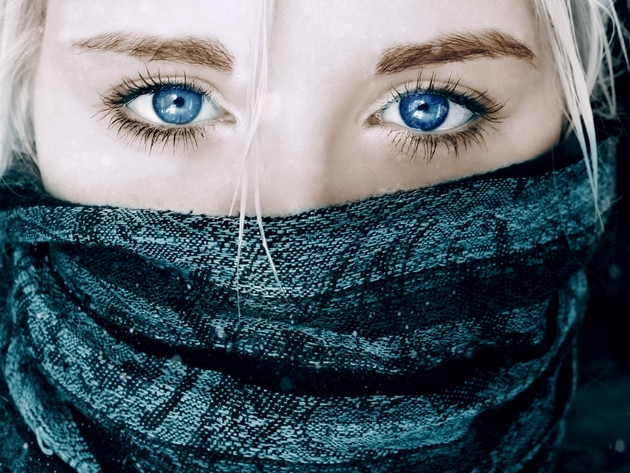 Wallpaper face, blue eyes, girl, eyes