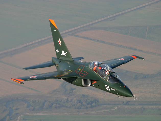 Wallpaper aircraft, yak-130, training and combat aircraft