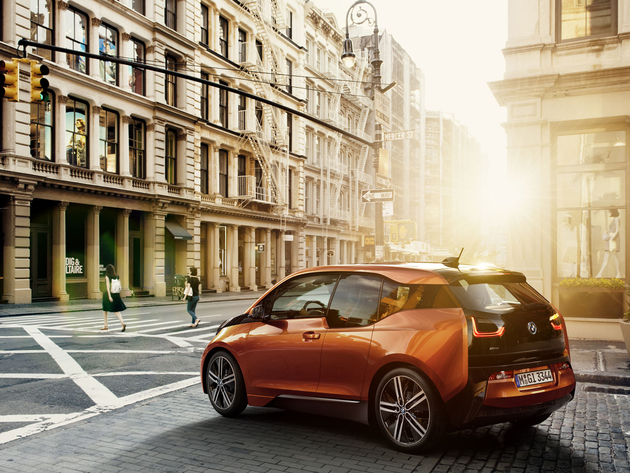 Wallpaper bmw, city, street, bmw i3