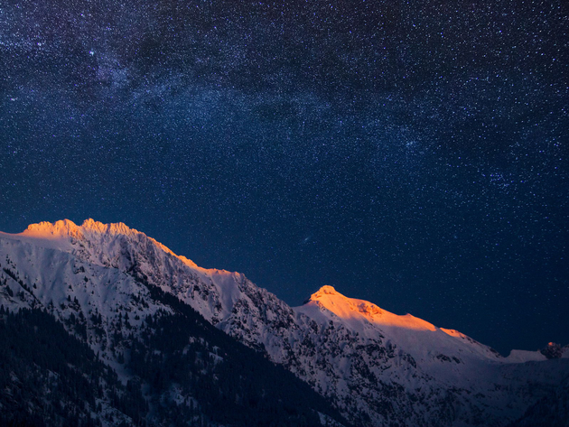 Wallpaper mountains, stars, bayern, germany, night, milky way