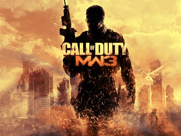 Wallpapers wolkenkratzer, call of duty, soldaten, maschinenpistole, call of duty 4: modern warfare 3