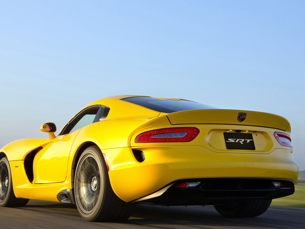 Wallpaper dodge, dodge viper, yellow car