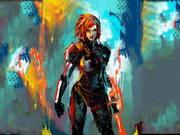 Wallpapers art., mass effect, shepard