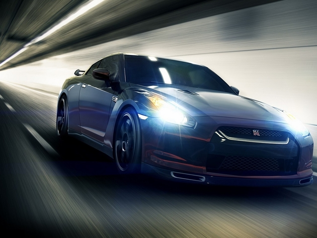 Wallpaper nissan, the tunnel, speed, nissan gt-r