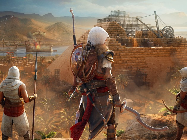 Wallpapers pyramide, assassins creed, assassin ' s creed origins, assassin ' s creed origins: the hidden ones