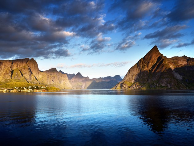 Wallpaper sea, mountains, norway, clouds, the lofoten islands