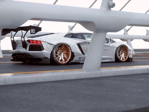 Wallpaper lamborghini tuning sports car aventador white