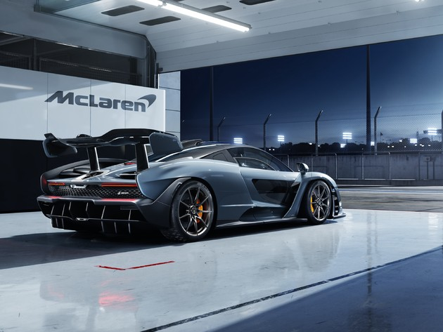 Wallpapers garage, mclaren, sportwagen, senna mclaren