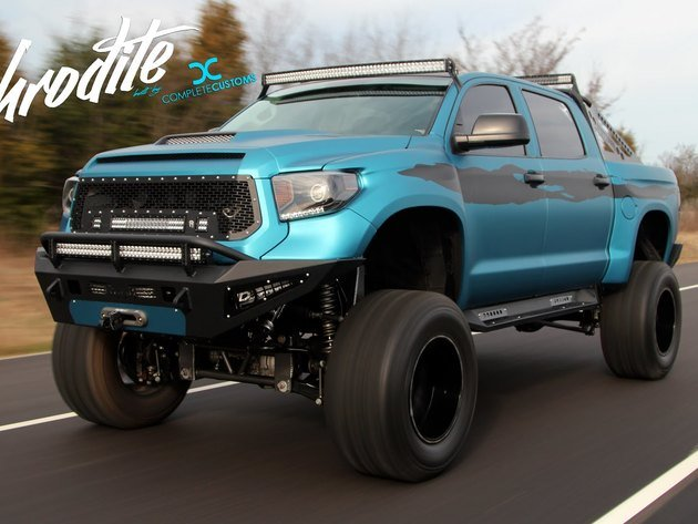 Wallpapers toyota, tuning, toyota tundra, pick-up