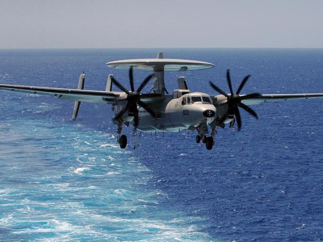 Wallpaper sea, sentry, e-2, northrop grumman, aircraft, radar, e-2 hawkeye