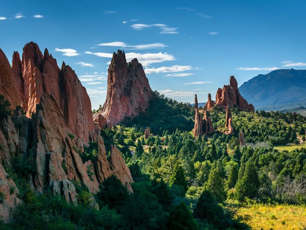 Wallpaper forest, usa, mountains, nature, colorado, rocks, colorado springs, garden of the gods