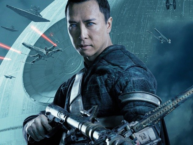 Wallpaper space, star wars, spaceship, rogue-one. star wars: the history, donnie yen, chirrut imwe