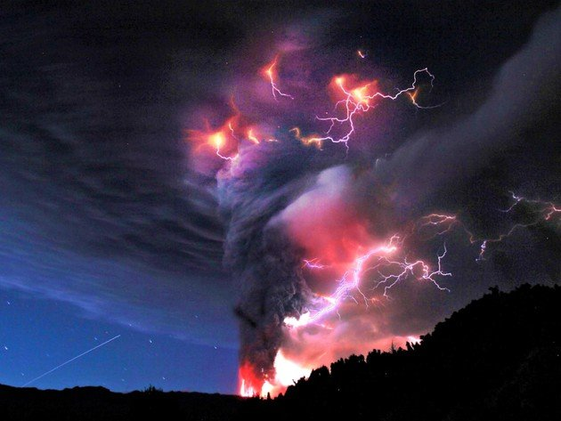 Wallpaper storm, clouds, nature, thunderstorm, lightning, storm, volcano, fire, eruption