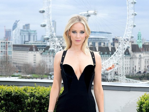 Wallpaper actress, london, girl, uk, dress, jennifer lawrence, black dress