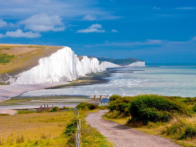 Wallpapers strand, das meer, ufer, scala, england, sussex, seven sisters
