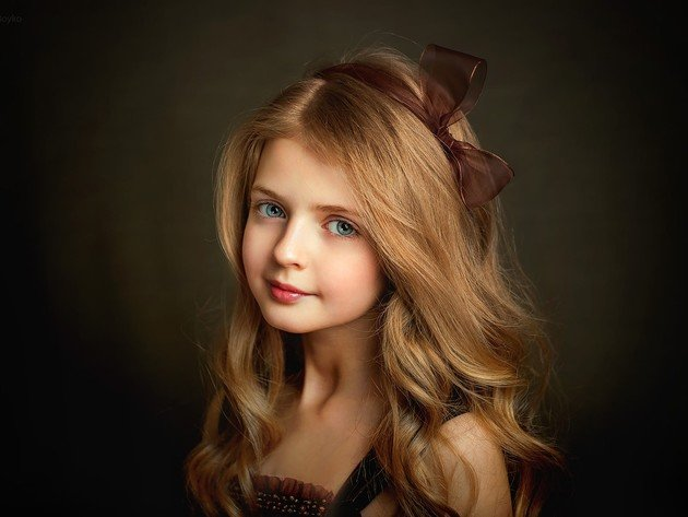Wallpaper blonde, girl, child, beauty, child, long hair, angelina