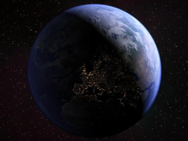 Wallpaper earth, space, planet, night, europe