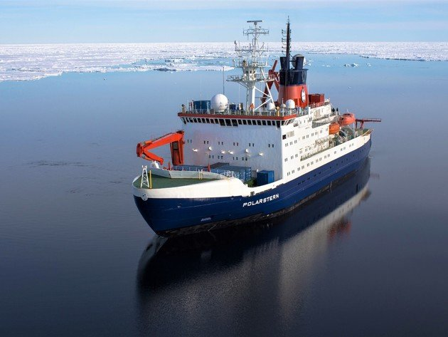Wallpapers ozean, winter, schiff, wasser, eis, icebreaker, polarstern