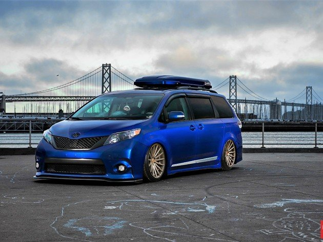 Wallpapers san francisco, brücke, toyota, tuning, toyota sienna, die blaue maschine