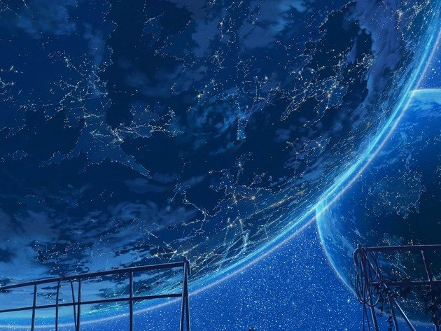 Wallpaper space, planet, stars, blue planet