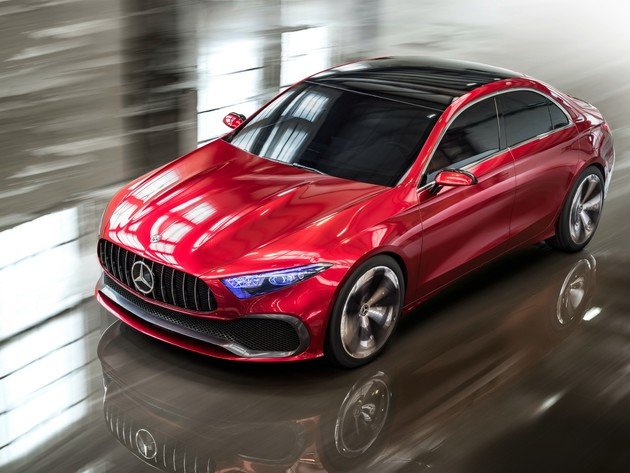 Wallpaper mercedes-benz, mercedes, red car, mercedes-benz concept a