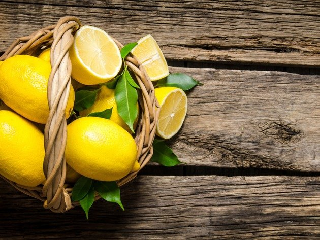 Wallpaper lemon, fruit, basket, food