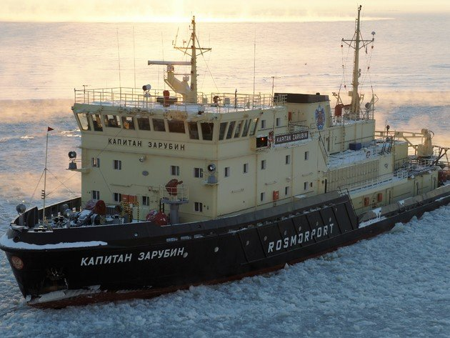 Wallpaper winter, ship, ice, icebreaker, kapitan zarubin