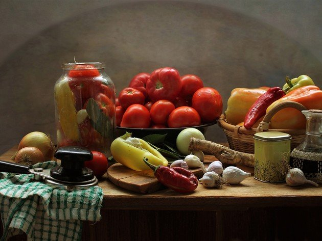 Wallpaper vegetables, paprika, tomatoes, food