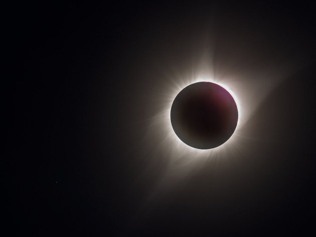 Wallpaper space, solar eclipse