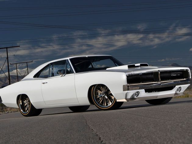 Wallpaper dodge, dodge charger, white car, custom wheels, 1969 dodge charger mopar, 1969 dodge charger